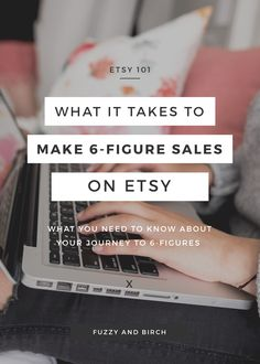 Make 6-figure sales on Etsy: Lately, I've noticed a trend among my fellow Etsy sellers. When they aren't making sales at the high five or six figure level, they're positive that something's WRONG. These sellers think they're missing some magic piece of the puzzle… or they're wondering if their item just isn't capable of driving serious sales. And most of them say they're one bad day away from throwing in the towel. But the reality is this: you don't just open an online store and making 6…