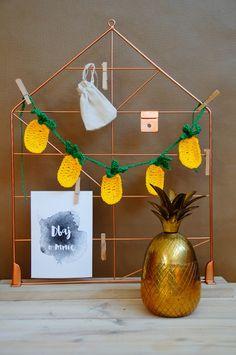 pineapple crochet bunting garland