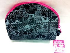 Hello kitty Black with pink Trim Cosmetic Pouch / Make Up Bag by Sanrio. $2.15. Hello kitty Black with pink Trim Cosmetic Pouch / Make Up Bag