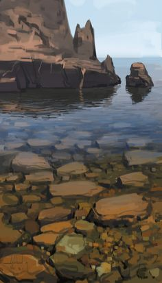 Water and Rocks Concept Art by Andead on deviantART