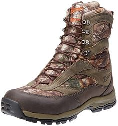 Danner Mens High Ground 8 Realtree X 1000G Hiking BootBrownGreen65 D US ** See this great product. This is an Amazon Affiliate links.