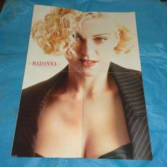 Large Madonna Pet Shop Boys And Betty Boo Double Sided Poster Film Music Memorabilia Vintage Collectable From Smash Hits Teenage Magazine