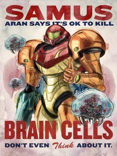 Retro Samus Says It's Ok Propaganda Poster by barrettbiggers, $10.00  #gaming #metroid #iwantyou #fanart