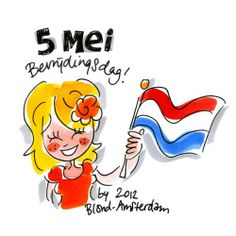 May 5th... Liberation Day in NL  Blond Amsterdam...