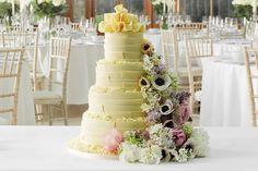White Chocolate Ribbons Wedding Cake By Marks & Spencer | Love My Dress® UK Wedding Blog