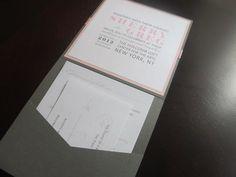 Pink Grey Pocket Invitation