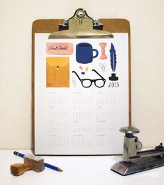 A printable 2013 calendar for the office | How About Orange