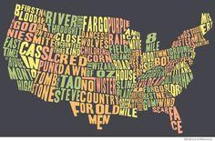 U.S. Movie map