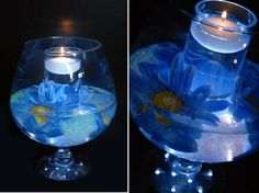 blue wedding candle centerpieces by one wed blue wedding candle centerpieces 510x381