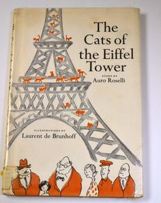 Vintage Children's Book The Cats of the Eiffel Tower Auro Roselli by misseileen on Etsy