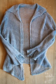Habu Yarn Wool Crepe N-90 and cocoknits. This cardigan hangs and drapes so well. It feels great to wear.