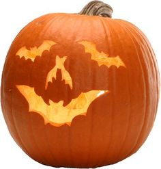 Bat pumpkin carving