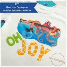Finding Dory's Hank the Septopus DIY Toddler Tee-shirt Iron-On 2