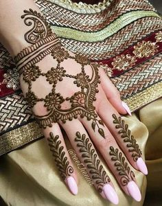 Beautiful Henna Patterns on fingers and hands