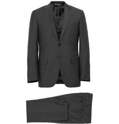 Canali Grey Wool Travel Suit | MR PORTER