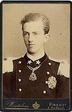 Victor Emmanuel III (1869 - 1947). Only child of Umberto I and Margherita of Savoy. He succeeded his father as King.