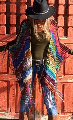 Thigh Length Knitted Womens Bohemian Festival Hippie by poshbygosh