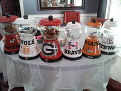 Clay pot candy jars Use them for your liking by JstTheTwoOfUs, $20.00