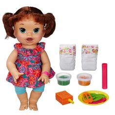 Boneca Baby Alive Comilona Morena - Hasbro
