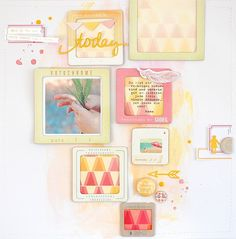Layout by Nina with the June 2013 kits from Citrus Twist