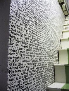 The Writing is on the Wall - I just realized....this is Herman Hesse's Steppenwolf, which I just finished reading!