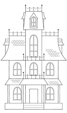 castle Drawing Template View