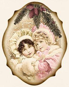JanetK.Design gratis digital vintage grejer: Christmas