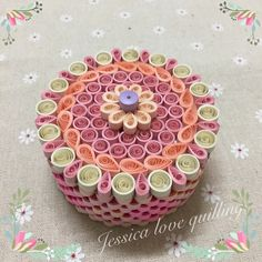 Quilling box - by: Jessica love quilling