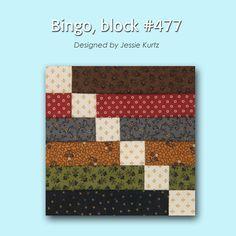 100 Blocks Sampler Sew Along Block 4: Bingo designed by Jessie Kurtz #100BlocksSampler