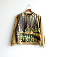 "The ""Lush"" Sweatshirt - Forest Photo Print - Niels Kierulf Collaboration"
