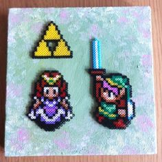 Legend of Zelda hama mini beads by geeky_gals