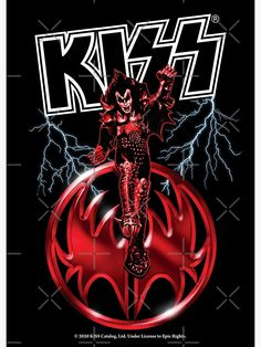 Heavy Metal Art, Heavy Metal Bands, Kiss Rock, Kiss Music, Iron Maiden Posters, Arte Zombie, Gene Simmons Kiss, Band Stickers, Rock Band Posters