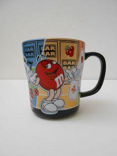 M M World Vegas Cityscape Coffee Mug w Yellow Red Characters Ceramic Cup | eBay