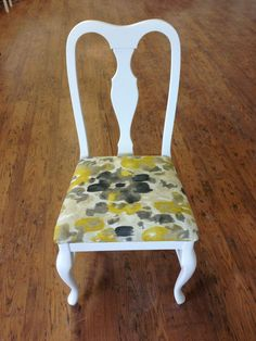 Chair sprayed in cloud white