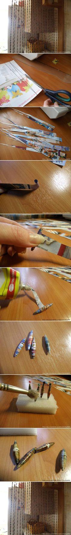 DIY Newspaper Beads Curtain DIY Projects | UsefulDIY.com Follow Us on Facebook ==> http://www.facebook.com/UsefulDiy