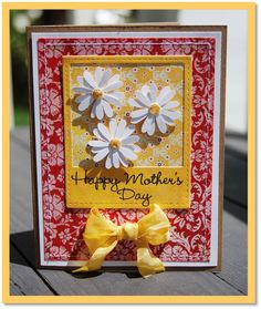 Happy Mother's Day Card using Walk in my Garden Cricut Cartridge