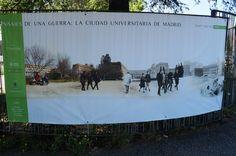 """Cartel de la Exposicion """"Paisajes de una guerra. La Ciudad Universitaria de Madrid""""  #Cartel #Affiche #Arterecord 2015 https://twitter.com/arterecord"""