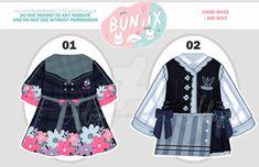 Drawing Anime Clothes, Anime Girl Drawings, Kawaii Fashion, Cute Fashion, Anime Outfits, Cute Outfits, Anime Uniform, Fashion Design Drawings, Pretty Designs