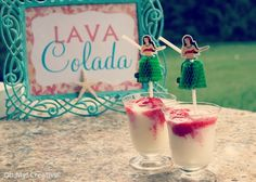Lava Colada - Hawaiian Luau Drink originally called Lava Flow. For a fun summer luau party. I liked the sound of the Lava Colada! The guests all loved it!