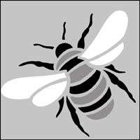 Bee stencil 9.5x12.1cm £6.35