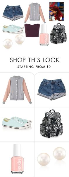 Cat Valentine Outfit 1 by ellie-woodson on Polyvore featuring mode, Miss Selfridge, Converse, Aéropostale and Essie