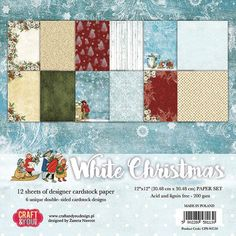 """DOVECRAFT PACK 12  SHEETS /""""12 DAYS OF CHRISTMAS/"""" 12 X 6/"""" X 6/"""" SAMPLE PAPERS"""