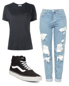 """""""Untitled #68"""" by makhood on Polyvore featuring Topshop, Vans and Frame Denim"""