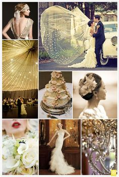 Great Gatsby inspired wedding - absolutely perfect.