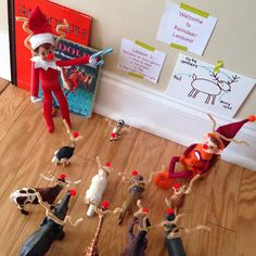 Elf on the Shelf is teaching everyone how to become a reindeer..