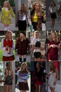 Clueless - written and directed by Amy Heckerling, Cher Horowitz, rollin' with the homies. Clueless Fashion, Clueless Outfits, 2000s Fashion, Look Fashion, Clueless 1995, Mode Outfits, New Outfits, Girl Outfits, Fashion Outfits