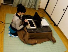 DIY Kotatsu - might have to try something like this!