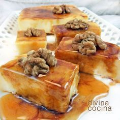 Cream and cheese Flan, Köstliche Desserts, Delicious Desserts, Mexican Food Recipes, Sweet Recipes, Cooking Time, Cooking Recipes, Sans Gluten, Desert Recipes