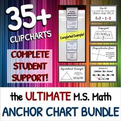 The ULTIMATE MIDDLE SCHOOL ANCHOR CHART BUNDLE!