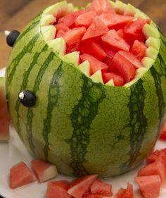 """Der Melonen-Hai: Das """"Hai-Light"""" bei eurem nächsten Buffet"""